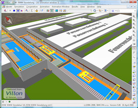 Edelweiss steel work simulation model in Villon